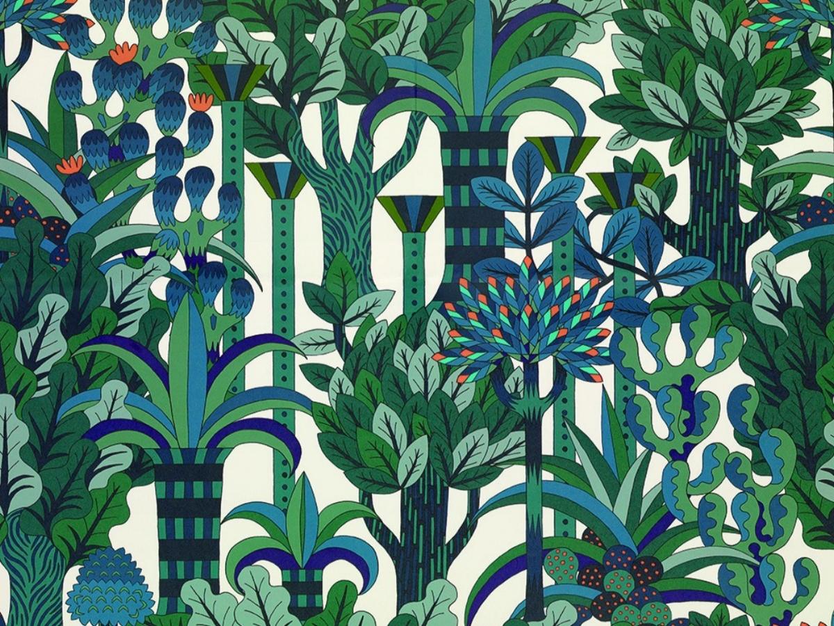 Papier peint Hermès Jardin d'Osier
