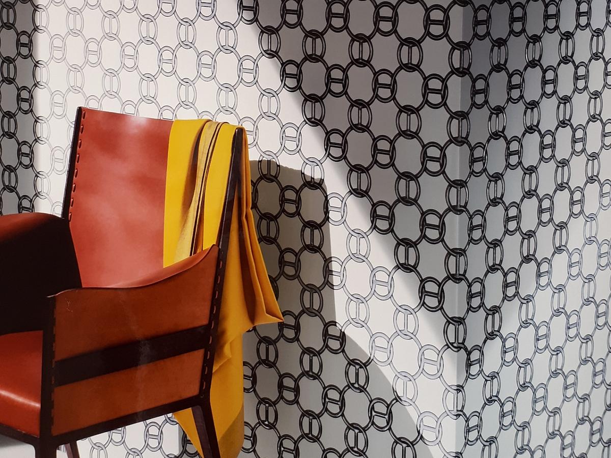 Papier peint Hermès Fil d'Argent