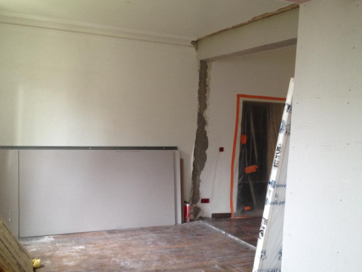 Aménagement d'un salon salle à manger - avant